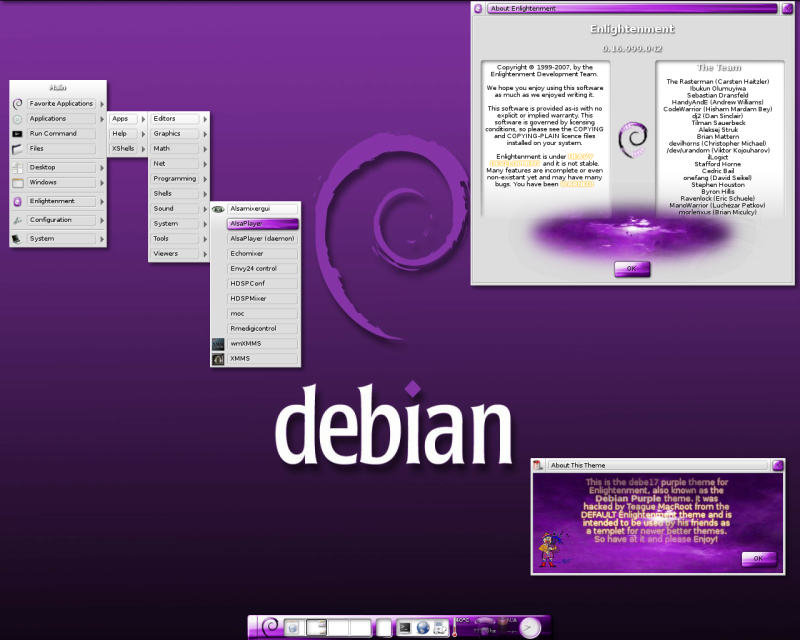 Debian Red Theme